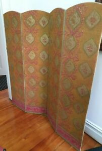 Antique Original Fabric Screen