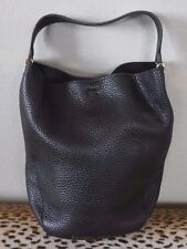 ETIENNE AIGNER Black Mara Hobo Bucket Handbag Small
