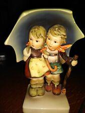 "Vintage Hummel ""Stormy Weather� Figurine #71 Umbrella Boy and Girl"
