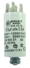 Condensateur moteur de démarrage / permanent 3.5µF 3.5uF 475V à cosses + vis