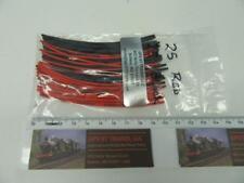"""GPS ST2 Red / Black Heat Shrink Tube Diameter 1mm x 4"""" Length (Set of 50)"""