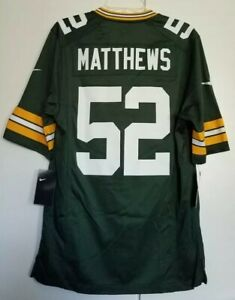 Men's Green Bay Packers Clay Matthews Nike Green Game Jersey Size Small