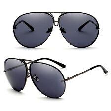 Men Large Oversize Aviator Metal Shades Fashion Retro Fashion Driving Sunglasses