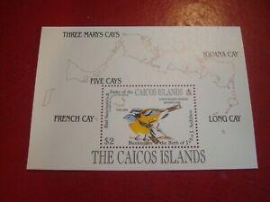 CAICOS ISLANDS - BIRD SANCTUARIES & J. AUDUBON - MINISHEET - UMM MINIATURE SHEET
