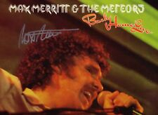 MAX MERRITT & THE METEORS - BACK HOME LIVE [SIGNED BY MAX ] 1977 OZ LP ARTY.149