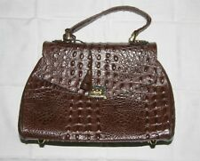 Sac à main marron  imitation croco femme