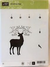 Stampin Up CHRISTMAS DEER clear mount stamps Ornament Holiday season bird