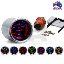 52mm Type R 7 COLOR Oil Pressure Gauge PSI Universal Fit