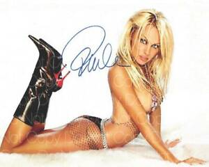 Pamela Anderson Sexy signed 8X10 inch photo picture poster wall art autograph RP