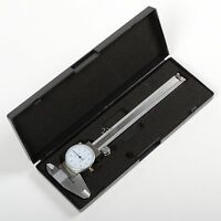 """6"""" Inch Stainless Steel 3-Way Measurement Dial Caliper .001"""" Shock Proof SAE ATE"""