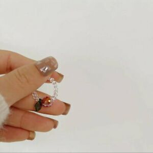 Crystal Beads Pearl Rings Adjustable Elasticity Finger Ring Women Jewelry Gifts