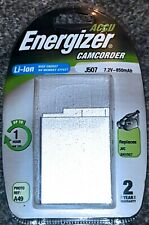 Energizer Li-ion J507 7.2V 850mAh Rechargeable Battery - JVC BNV507