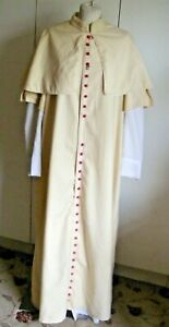 Old theatrical robe vestment church robe Bishop Cardinal or Pope cassock soutane