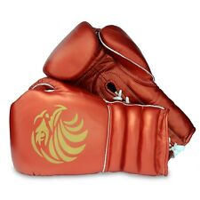 Pro Red Leather Boxing Gloves 10oz - 16oz Punch Bag Sparring Fight MMA Muay Thai
