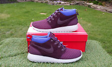 BNWB & Genuine Nike Roshe Run Sneakerboot Trainers Shoes Burgundy Size UK 7