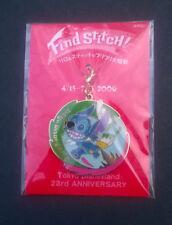 Tokyo Disneyland 23rd Anniversary 2006 Event Charm Find Stitch Rare - New Sealed