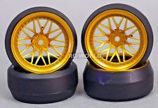 RC 1/10 DRIFT WHEELS Package 0 Degree 9MM Offset 3 PIECE  GOLD