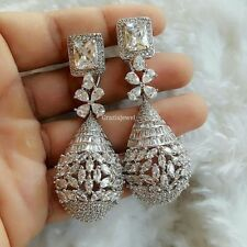 Cocktail Bridal Drop Earrings With Solid 925 Sterling Silver 25ct Diamonds