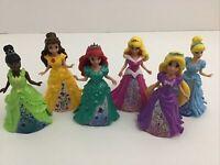 Disney Princess Magiclip Dolls 6pc Lot Tiana Belle Ariel Cinderella Rapunzel