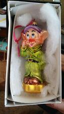 "Christopher Radko Snow White and the Seven Dwarfs ""Dopey"" Ornament"