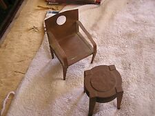 Mid Century Vintage Modern Doll Chair Table Copper