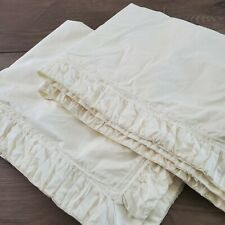 Anthropologie CIRRUS Standard Pillow Sham Set x2 in Ivory Ruched Pleated Cotton