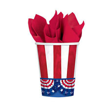 50 American Pride 4th of July Stars and Stipes Patriotic Party 9oz Paper Cups