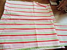 "Striped piece of Sheeting 21"" wide 76"" long New fabric material crafts"