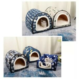 Cat Pet Dog Beds Mat Sleeping House Cushion Kennel Soft Warm Washable Foldable
