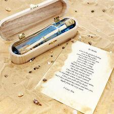 Personnalisé message dans une bouteille amour romantique mariage memorial boîte cadeau