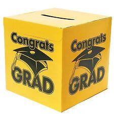 Congrats Grad Yellow Card Box Graduation Decoration