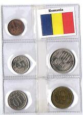 ROMANIA SET 5 MONETE FIOR DI CONIO LEI BANDIERA 5 UNC COINS FLAG REGALO