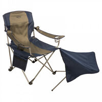 Kamp-Rite Camping Folding Chair Detachable Footrest Seat Cup Holder Heavy Duty