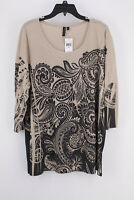 Women's Plus Size Sublimation Printed 3/4 Sleeve Casual Blouse