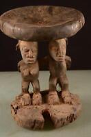 5860 Alte Luba Hocker DR Kongo Africa / Afrika