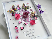 Handmade Personalised Birthday Card Mothers Day Mum Wife Friend Any Age Gift Box