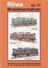 catalogo RÖWA Folder 1972 HO TT Modelleisenbahnen         D       aa