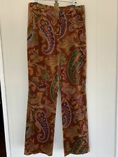 Etro Pants Velvet Size 42 Excellent Condition