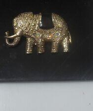 Elephant-Brooch Enamel Vintage Estate Rhinestone-2 lots Post all FREE