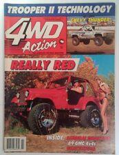 4WD Action Magazine February 1989 Really Red Gravelrama Samurai Chevy Thunder NC