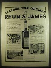 1933 Rhum St. James Ad - in French - La grande firme coloniale du Rhum St. James