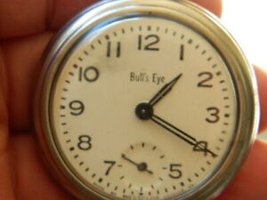 Westclox Bull's Eye  Nice Dial, Hands, Case, Serviced, Runs No Reserve !