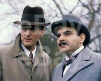 """Poirot (TV) David Suchet """"Hercule Poirot"""" Hugh Fraser 10x8 Photo"""