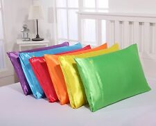 25 momme FAUX SILK SATIN CHARMEUSE MUTIL-COLOUR PILLOWCASE