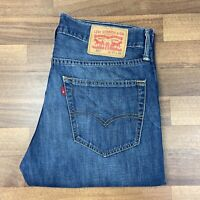 Men's Blue Vintage 527 Bootcut Levi's Strauss Denim Jeans W32 L34