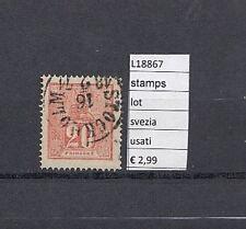 FRANCOBOLLI STAMPS  SVEZIA USATI  (L18867)
