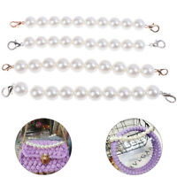 1X DIY Giant Faux Pearl Bag Strap Replacement Top Handle On Handbag Classic F_QA