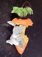 Charming Tails Silvestri Rabbit Sleeping On Carrot Ornament