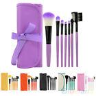 AL_ Classy 7Pcs Cosmetic Makeup Tool Powder Blush Eyelash Concealer Brush Bag Se