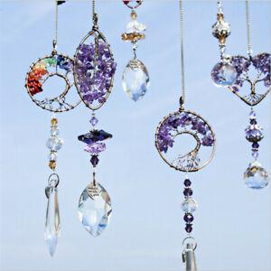 Handmade Crystal Beads Suncatcher Window Hanging Dream Catcher Tree Of Life NEW